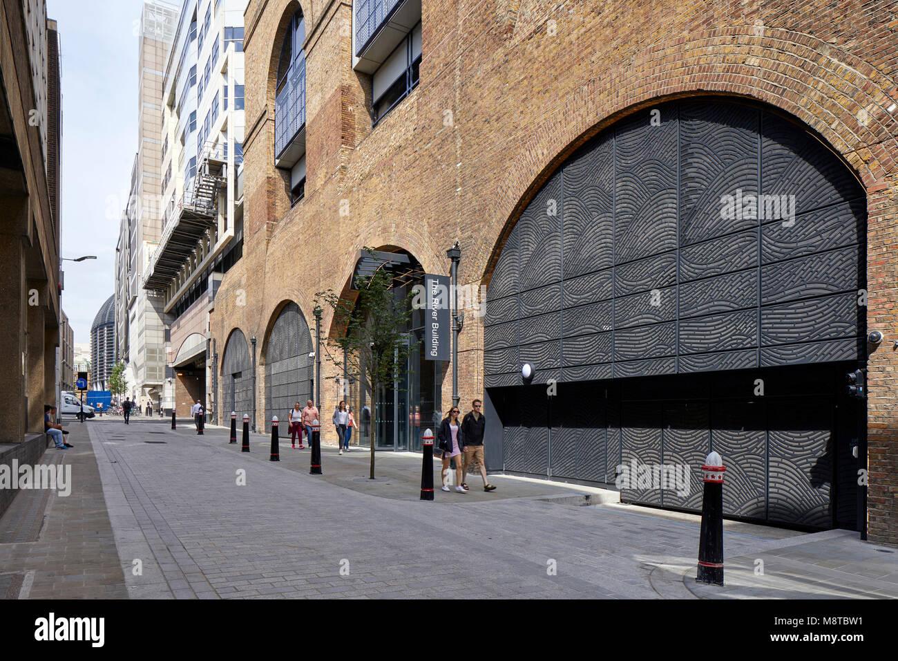 Exterior facade. The River Building, London, United Kingdom. Architect: Stiff + Trevillion Architects, 2017. - Stock Image