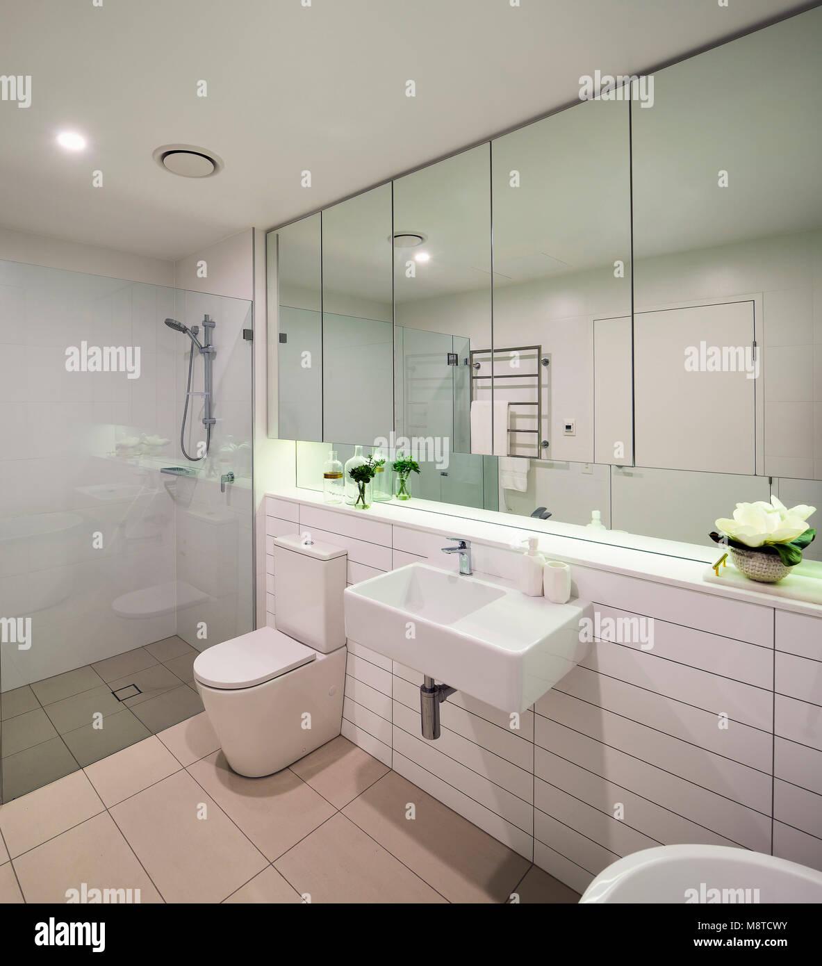 Apartment Bathroom Lotus Apartments Sydney Australia Architect Stock Photo Alamy