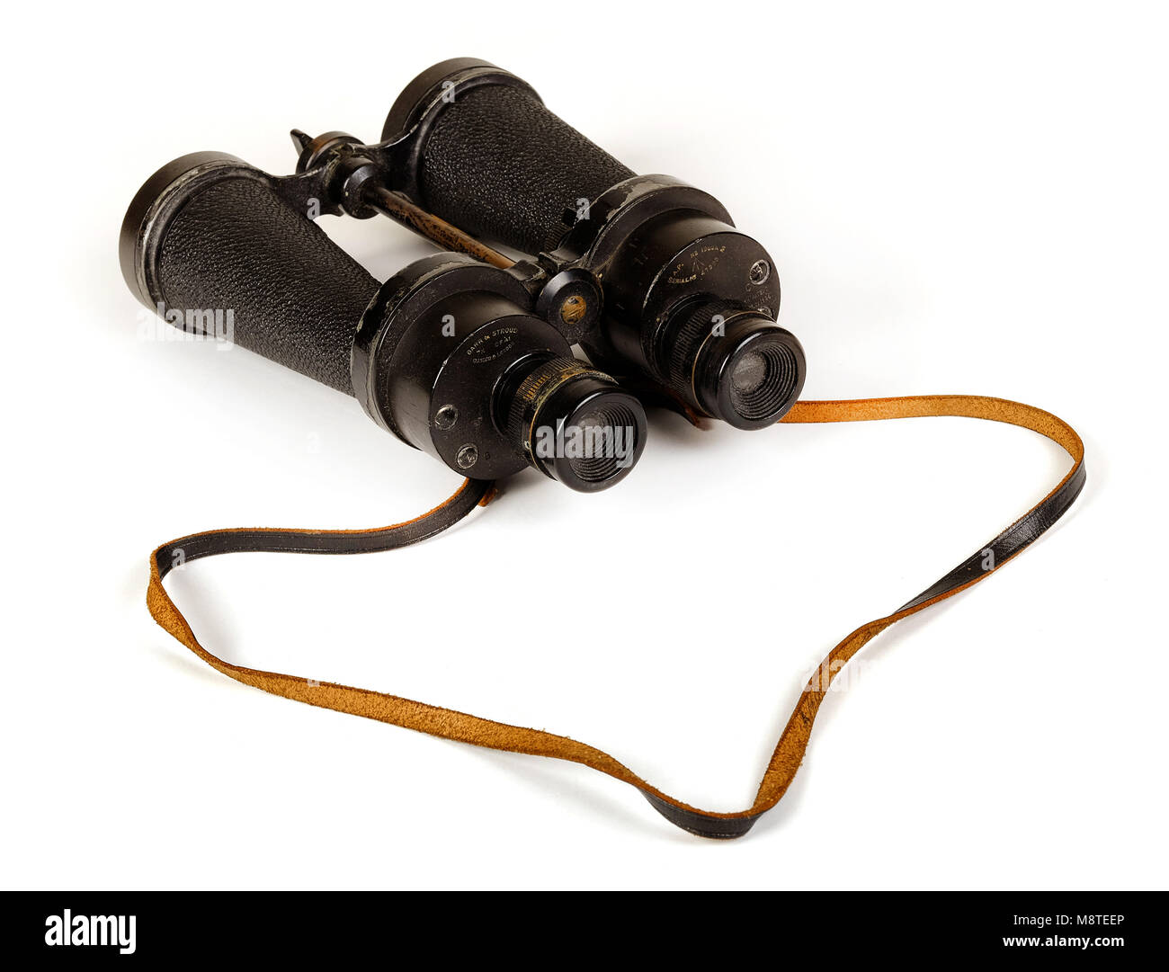 WW2 British Royal Navy binoculars made by Barr & Stroud (Glasgow and London) - Stock Image