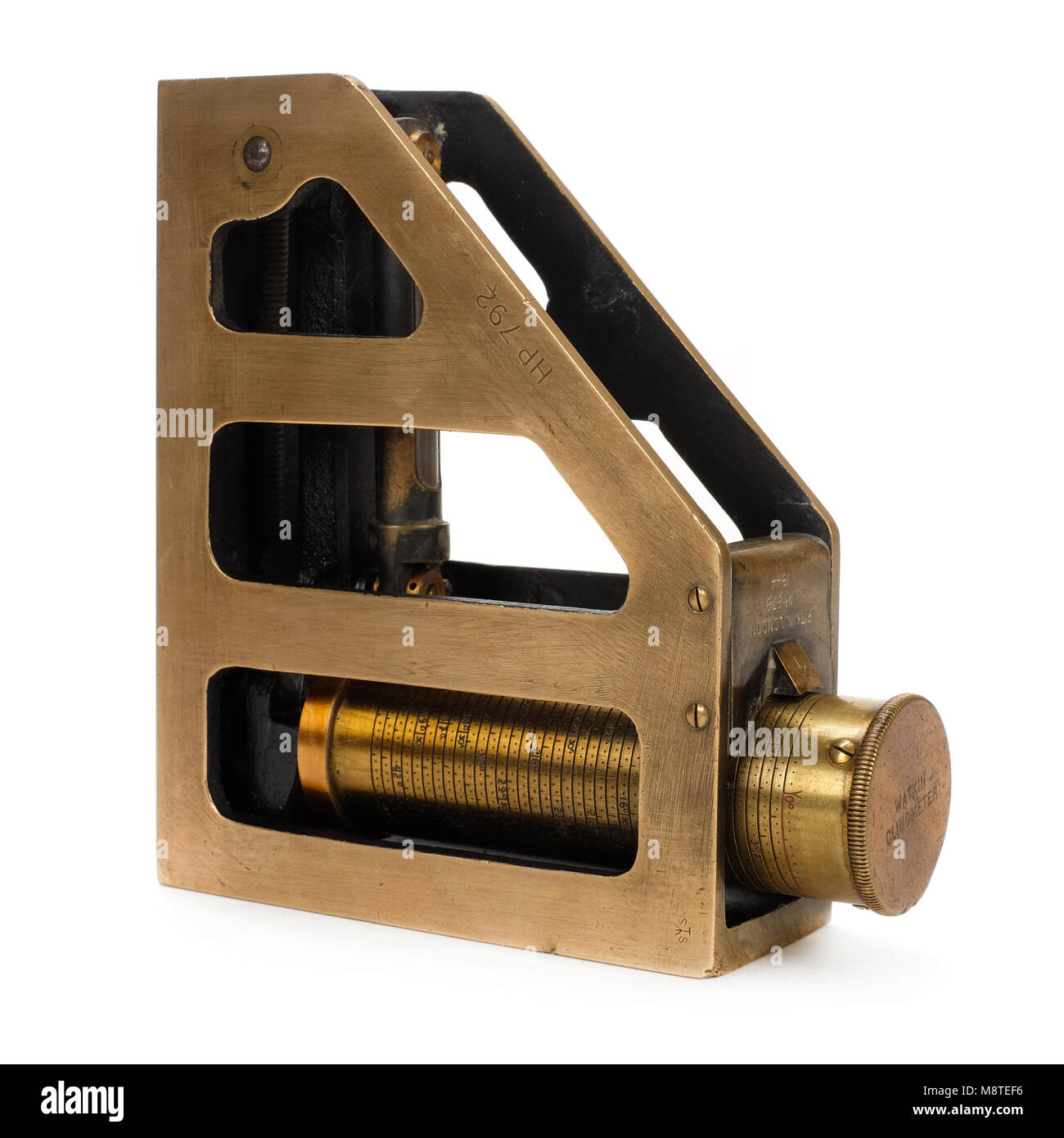 WW2 British War Department Watkin Clinometer made by Pitkin Ltd of London in 1944 and marked No 679 - Stock Image