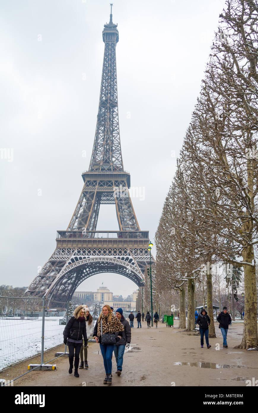 eiffel tower paris france - Stock Image