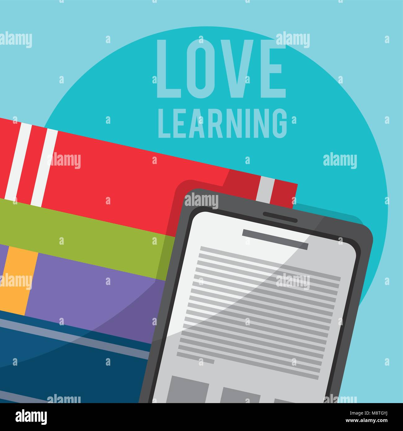 Books and technology - Stock Image