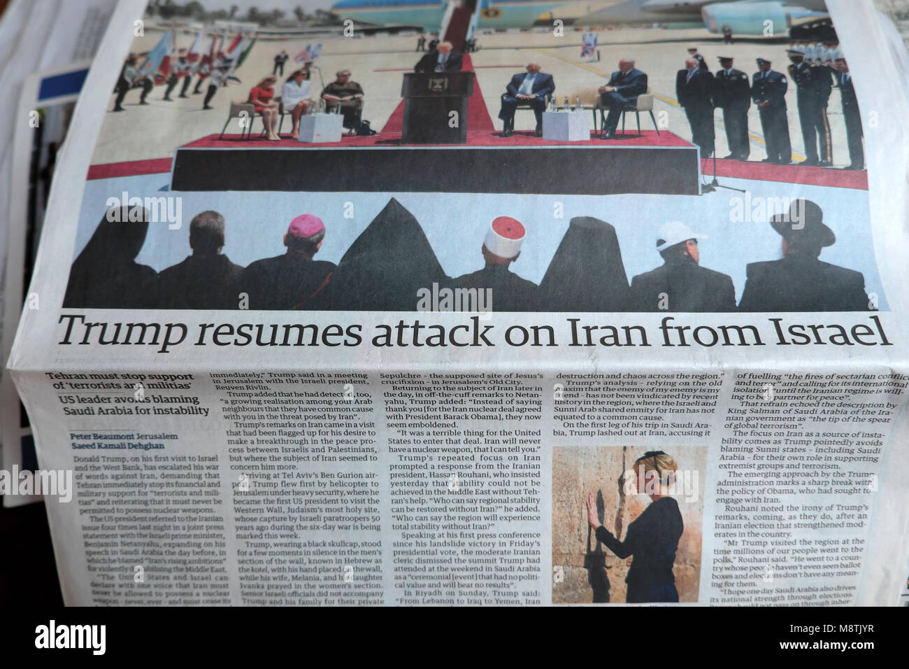 trump resumes attack on iran from israel news article in the stock