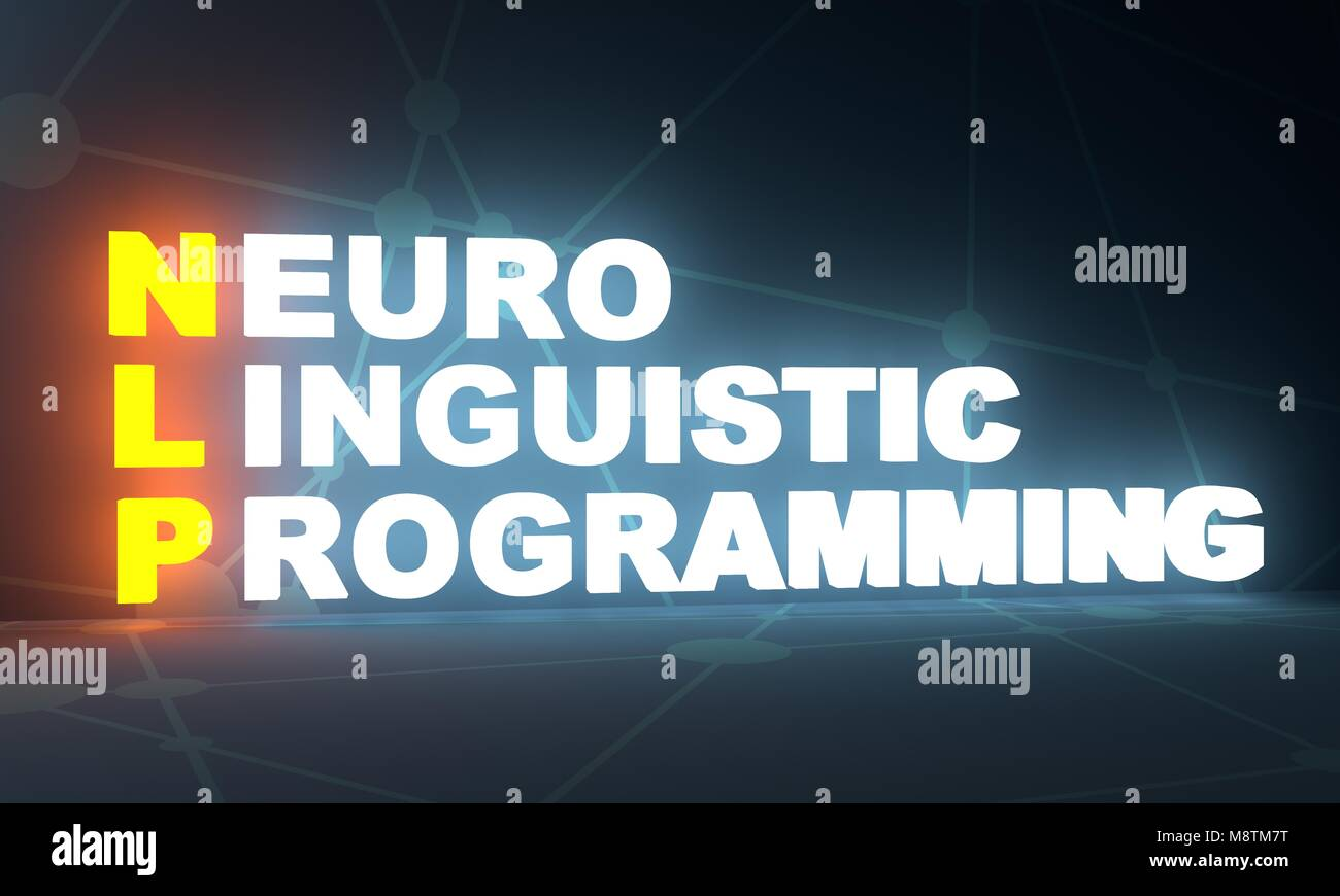 Neuro Linguistic Programming acronym - Stock Image