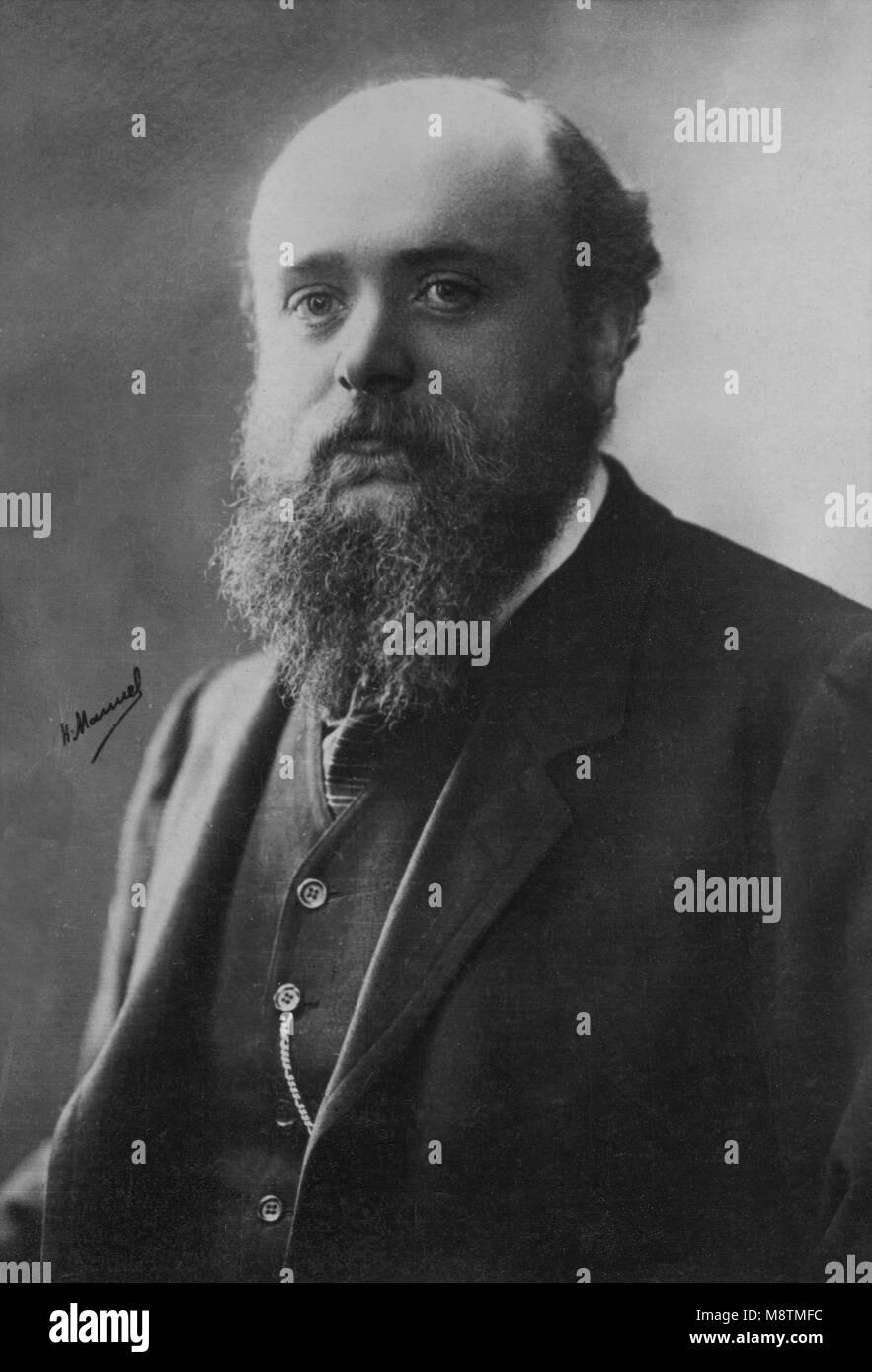 Portrait of Ernest Joseph Laurent ( 1859 - 1929 ) painter  -  photography by  Henri Manuel ( 1874 - 1947 ) - Stock Image