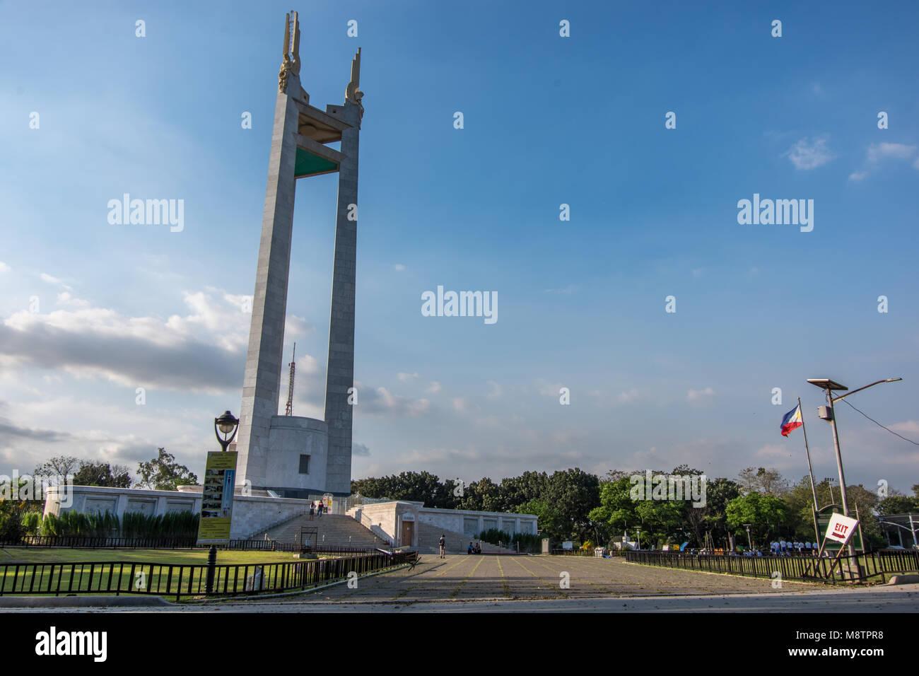 Feb 2,2018 People walking around Quezon Memorial Circle , Quezon City, Metro Manila , Philippines - Stock Image