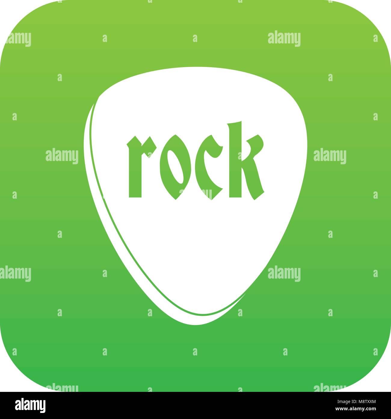 Rock stone icon digital green Stock Vector