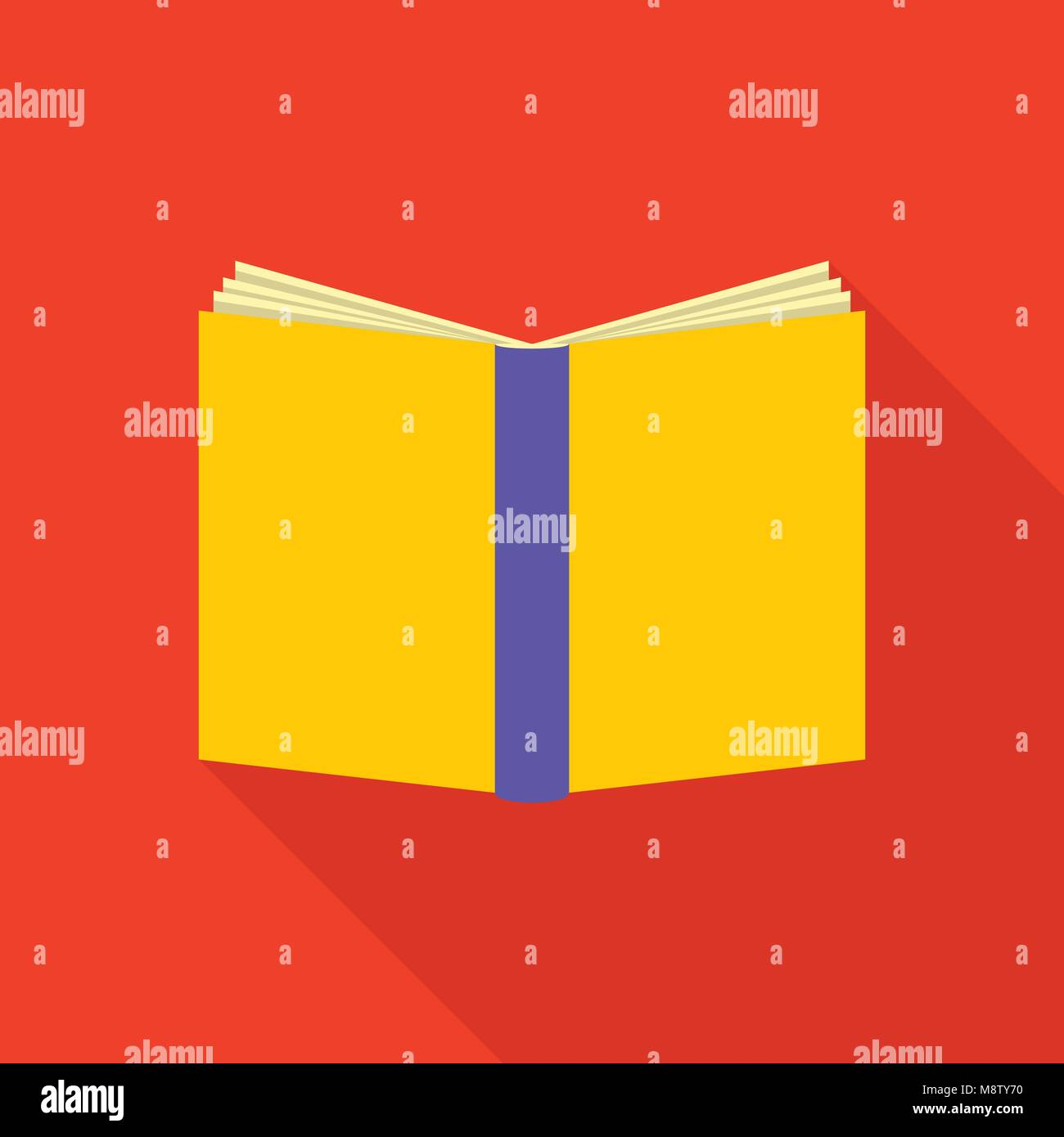 Bookcover icon, flat style - Stock Image
