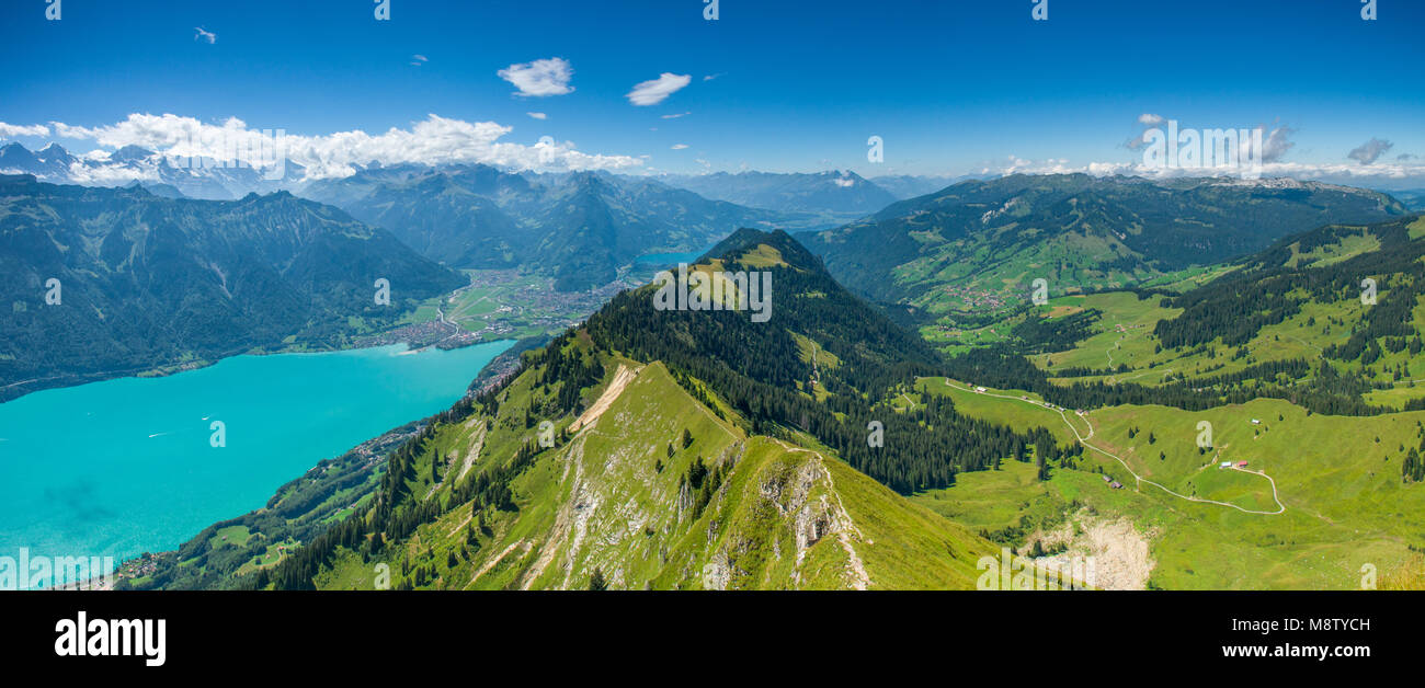 majestic, panoramic views of the swiss alps, lakes and interlaken