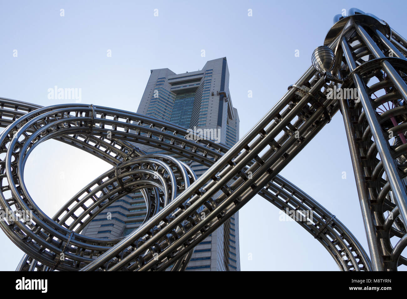 Landmark Tower in Minato Mirai, Yokohama, Kanagawa, Japan. Friday, March 2nd 2018 - Stock Image