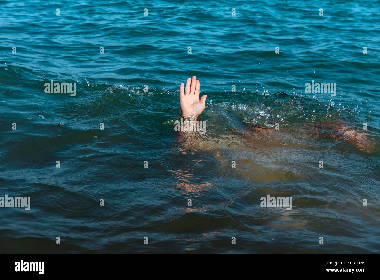 A sinking person the salvation of a drowning man