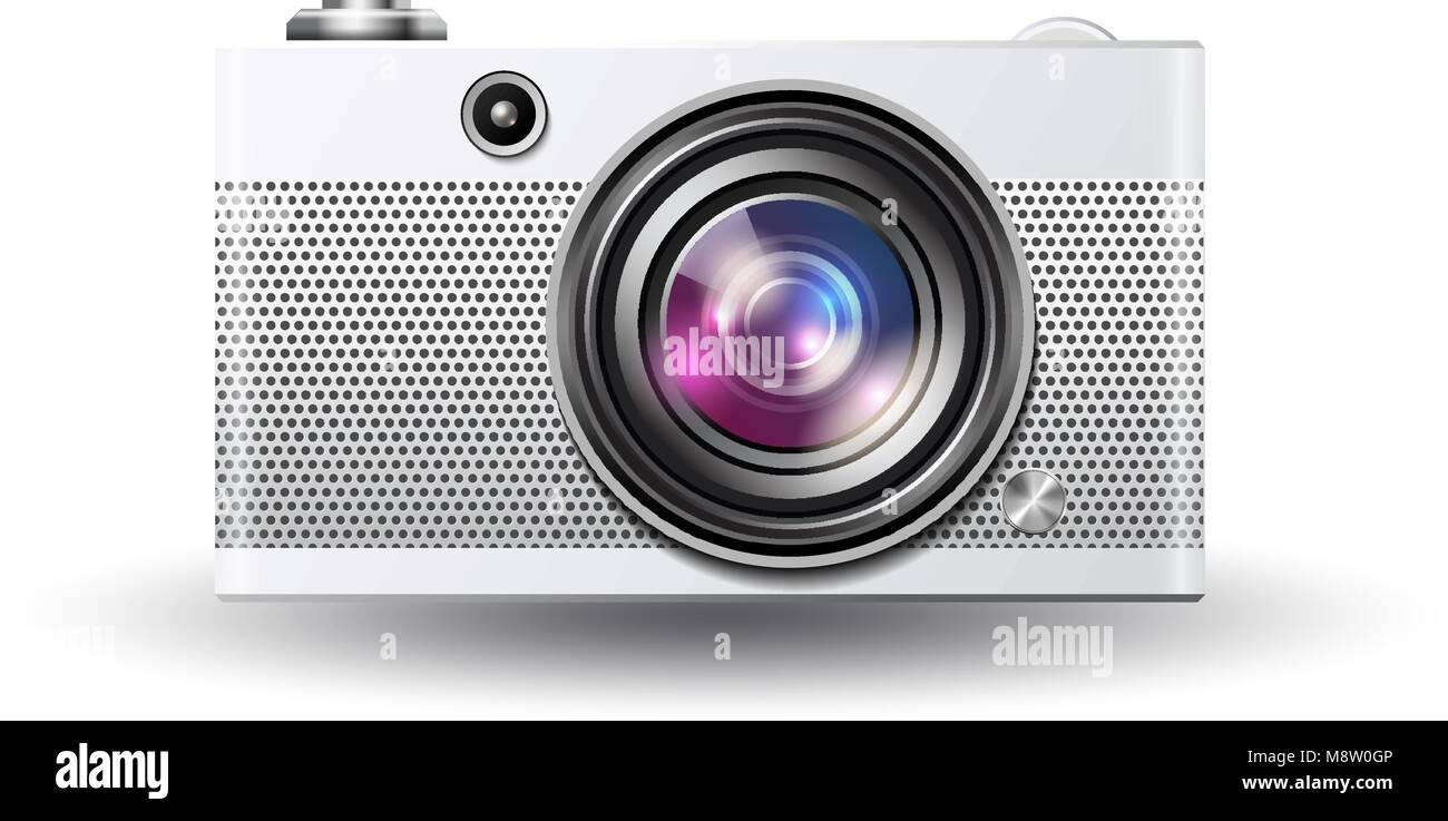 Vector photocamera icon Stock Vector