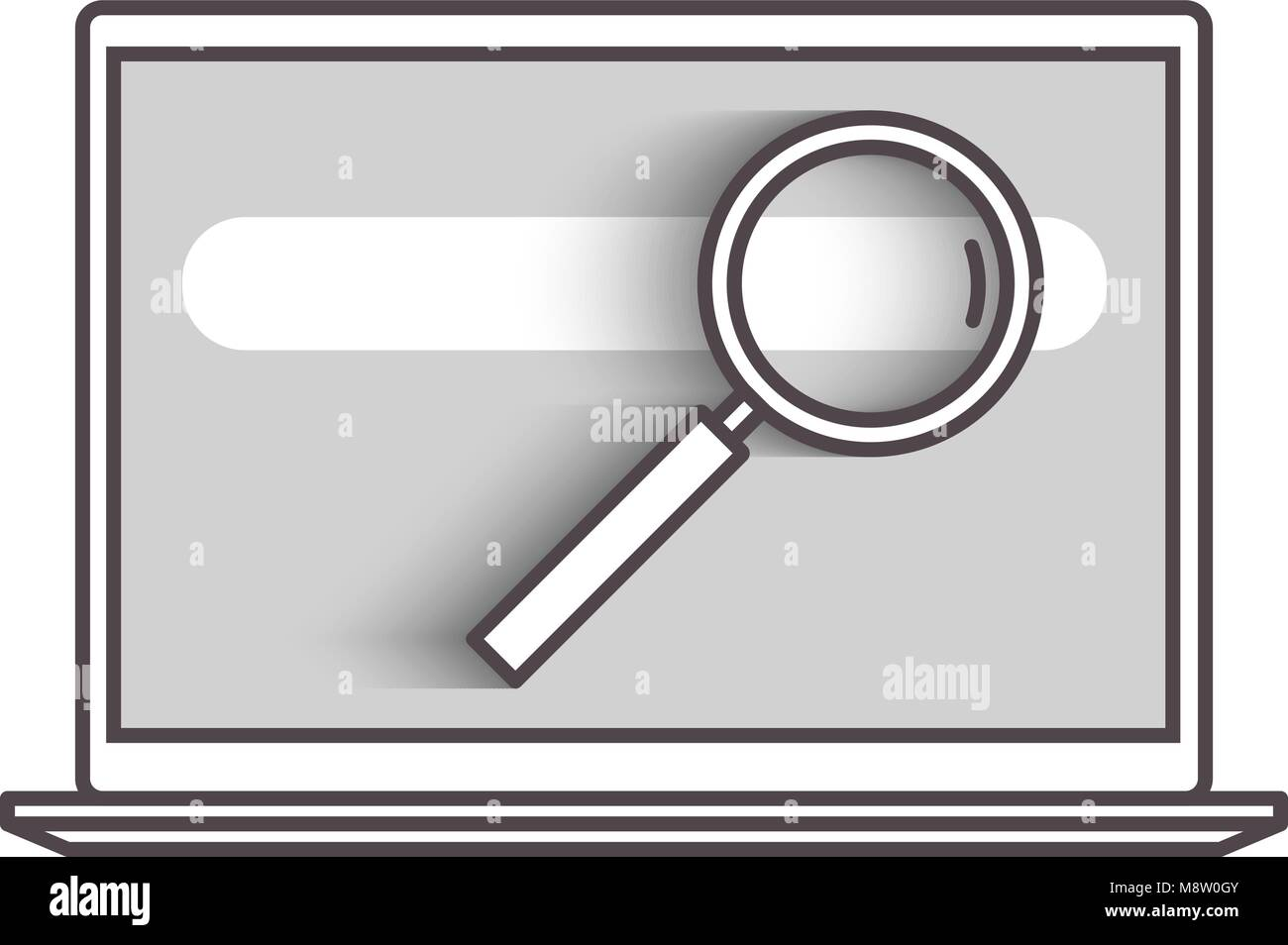 Flat line search concept - Stock Vector