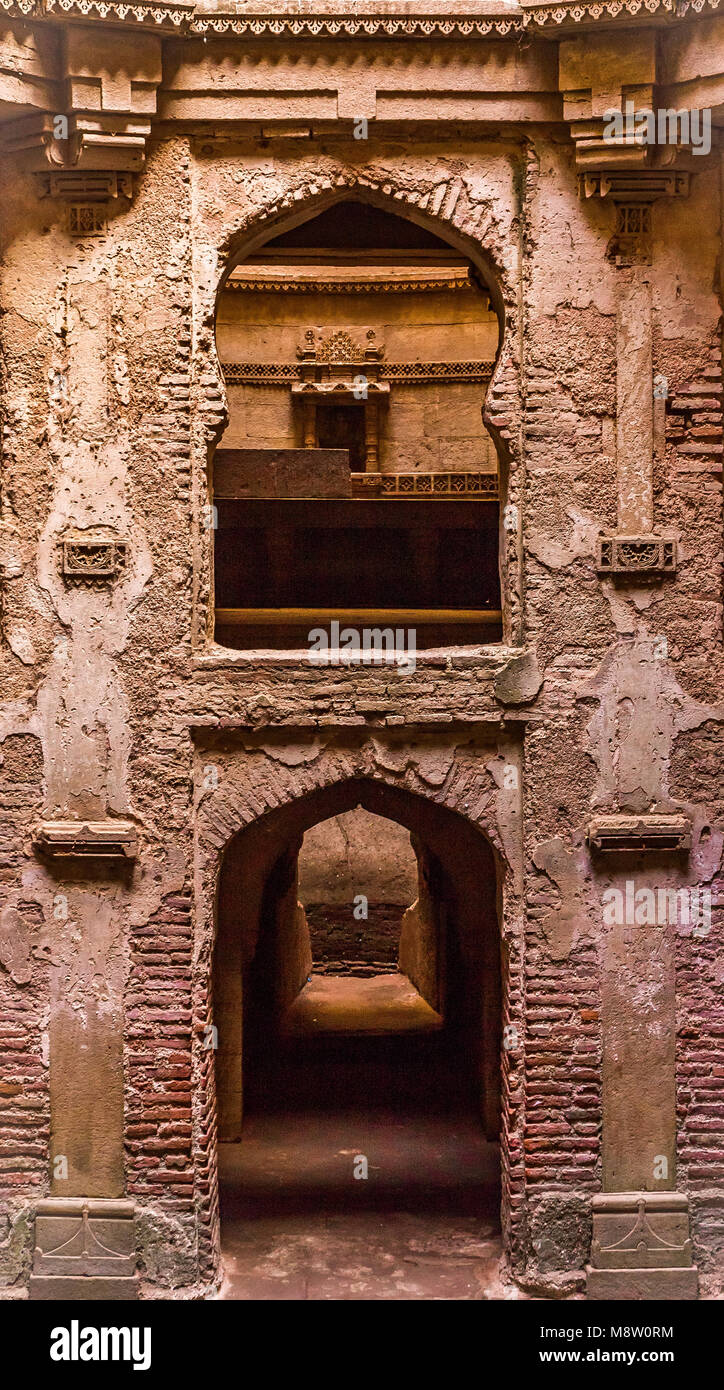 Step Well of  Adalaj. Gujarat, India. - Stock Image