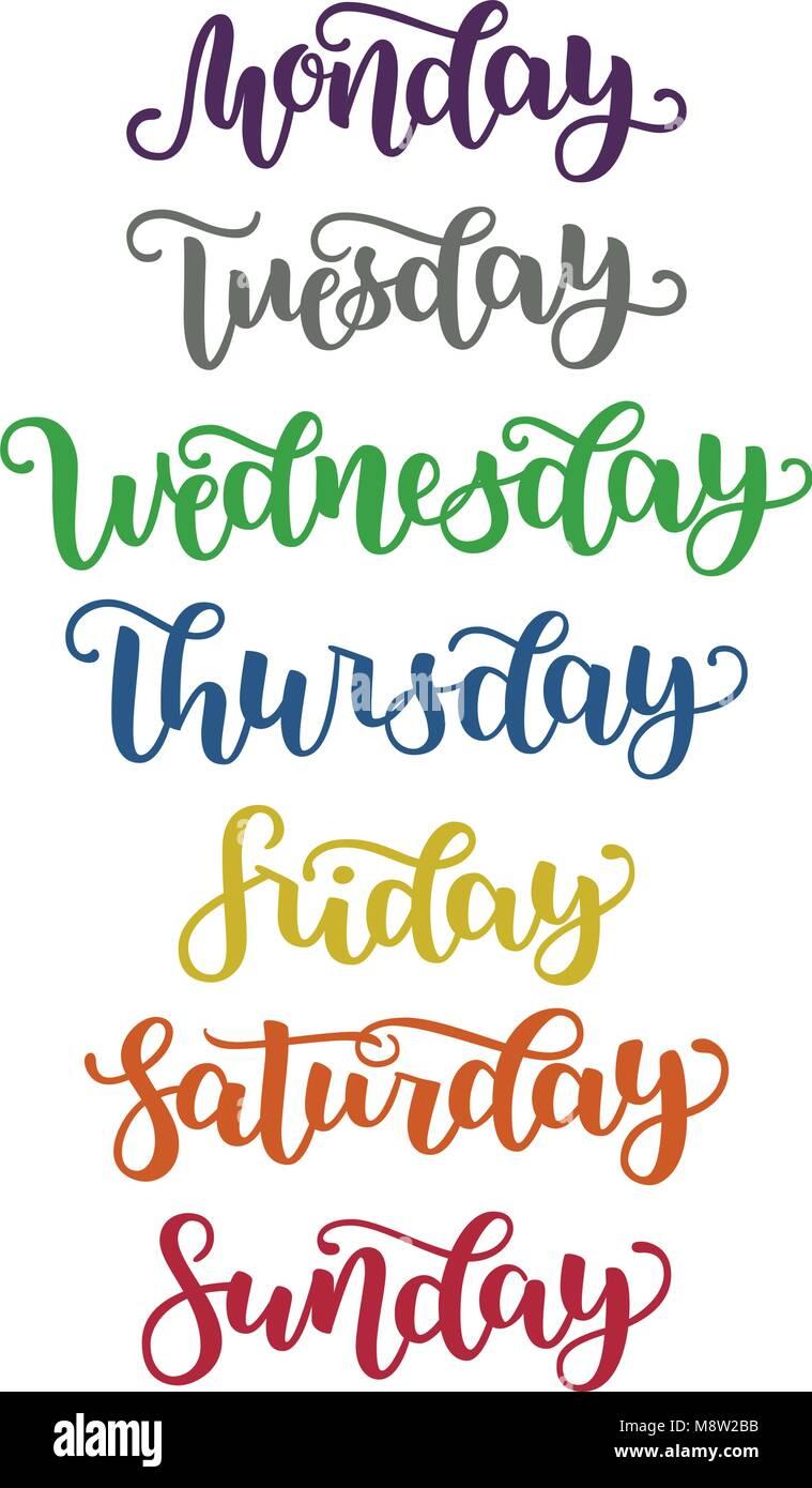 2ded1e4267 Lettering Days of Week Sunday