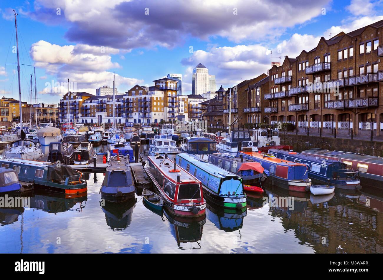 Limehouse Basin, Tower Hamlets, East London, UK - Stock Image