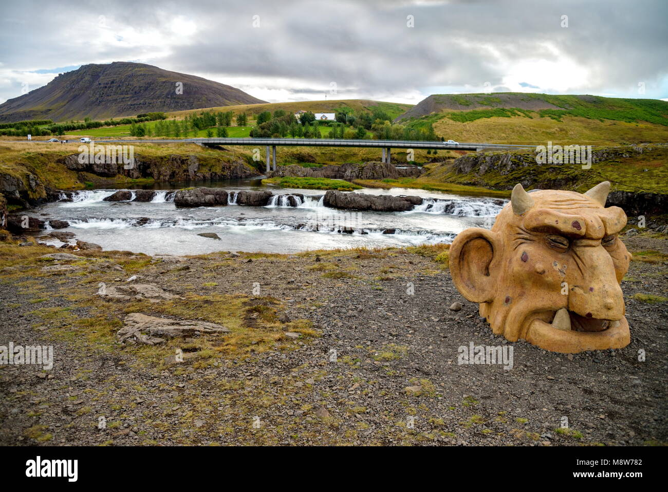 Troll statues in Iceland - Stock Image