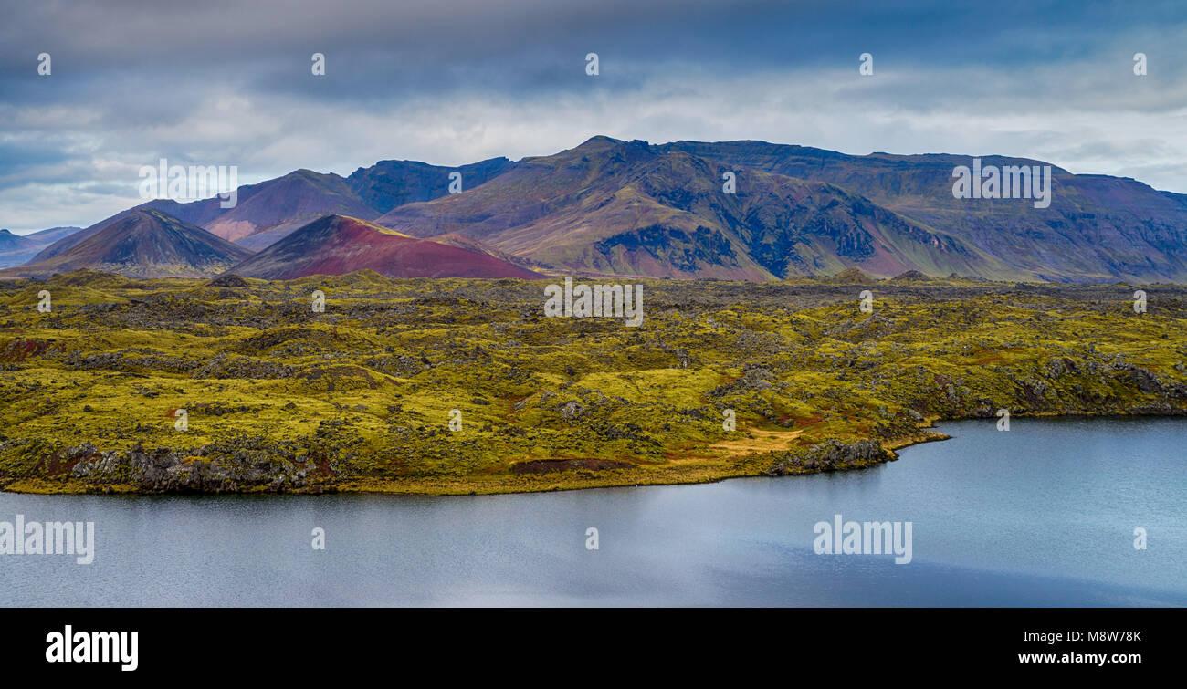 Colourful Icelandic landscape - Stock Image