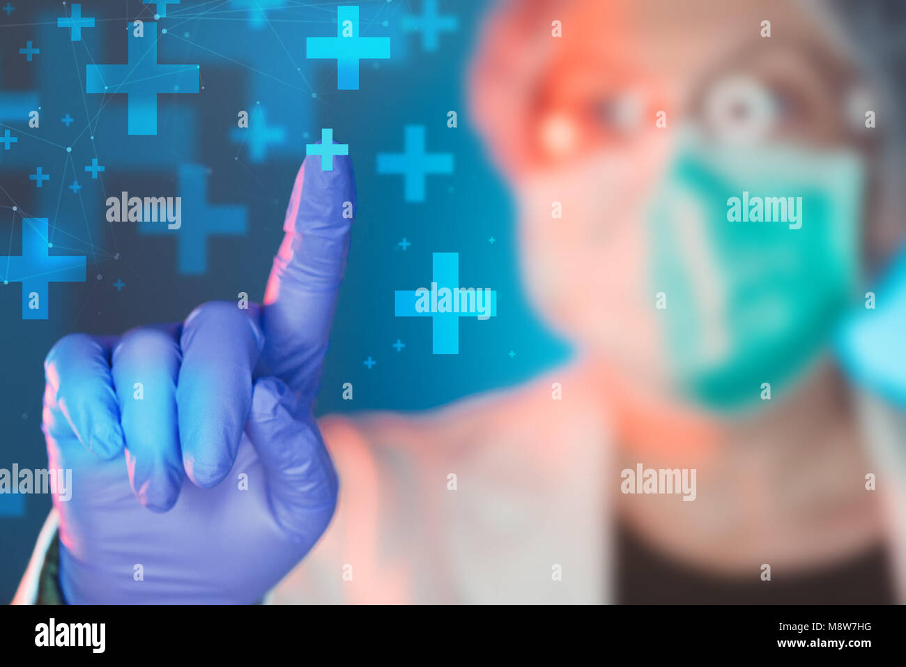Emergency medicine specialist working in medical clinic hospital, portrait of female healthcare professional - Stock Image