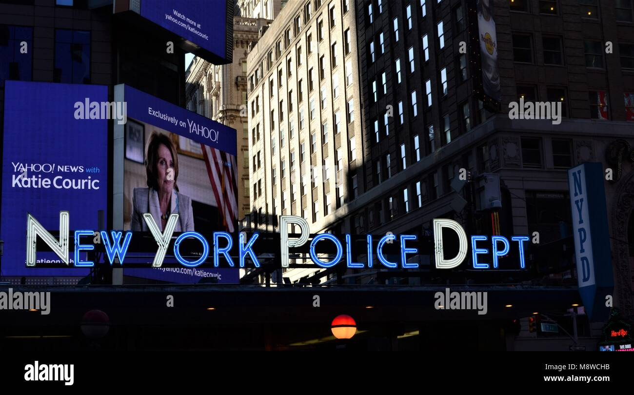 New York Police Dept, Manhattan - Stock Image