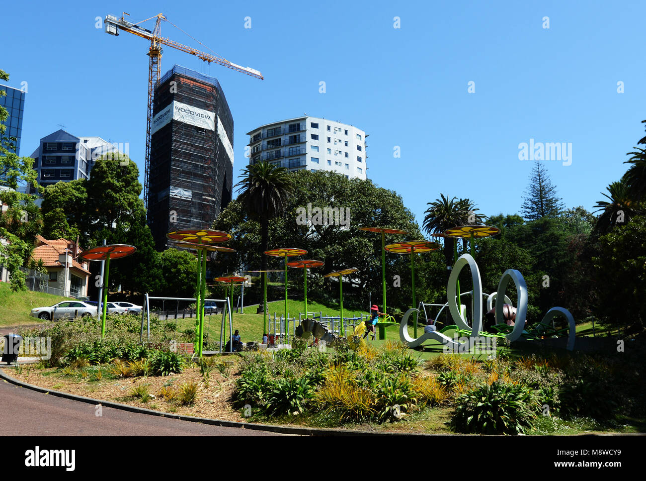 Myers park in Auckland, New Zealand. - Stock Image