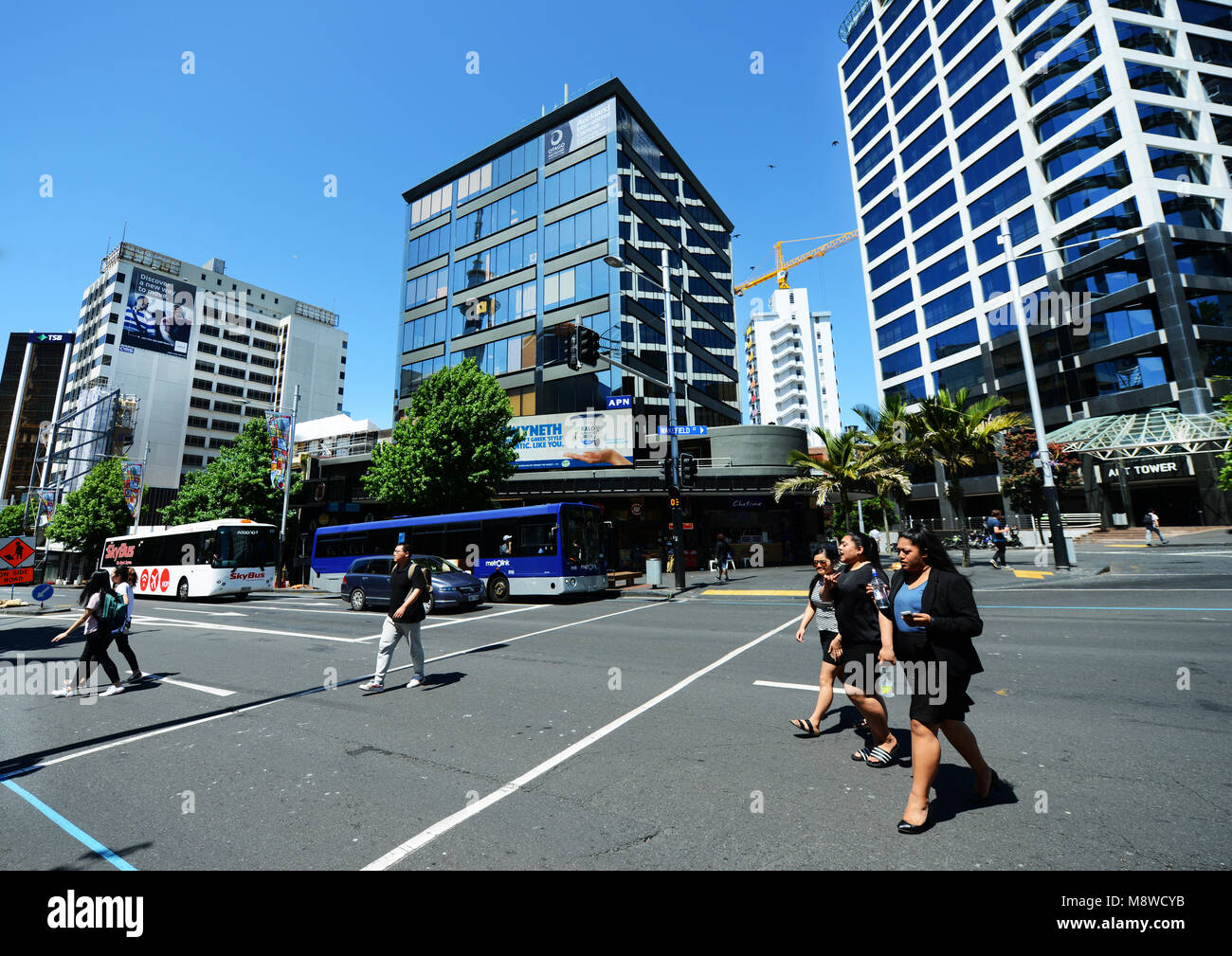 New modern buildings in Auckland's CBD. Stock Photo