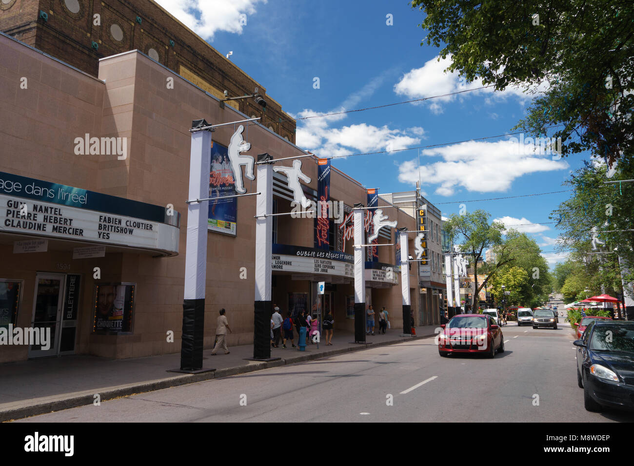 St Denis Theater on St Denis street, Montreal, province of Quebec, Canada. - Stock Image