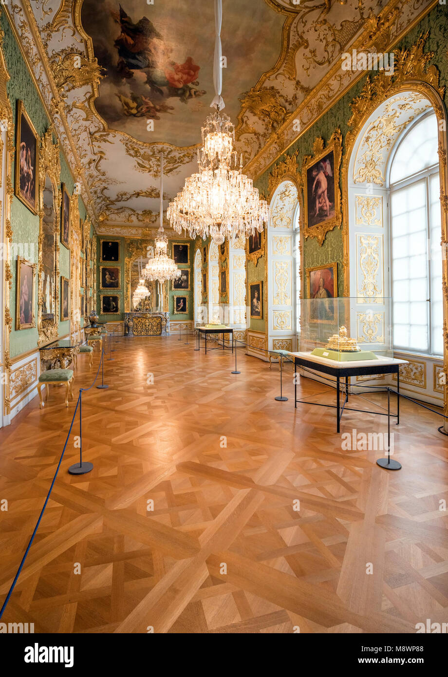 The Munich Residence served as the seat of government and residence of the Bavarian dukes, electors and kings from - Stock Image