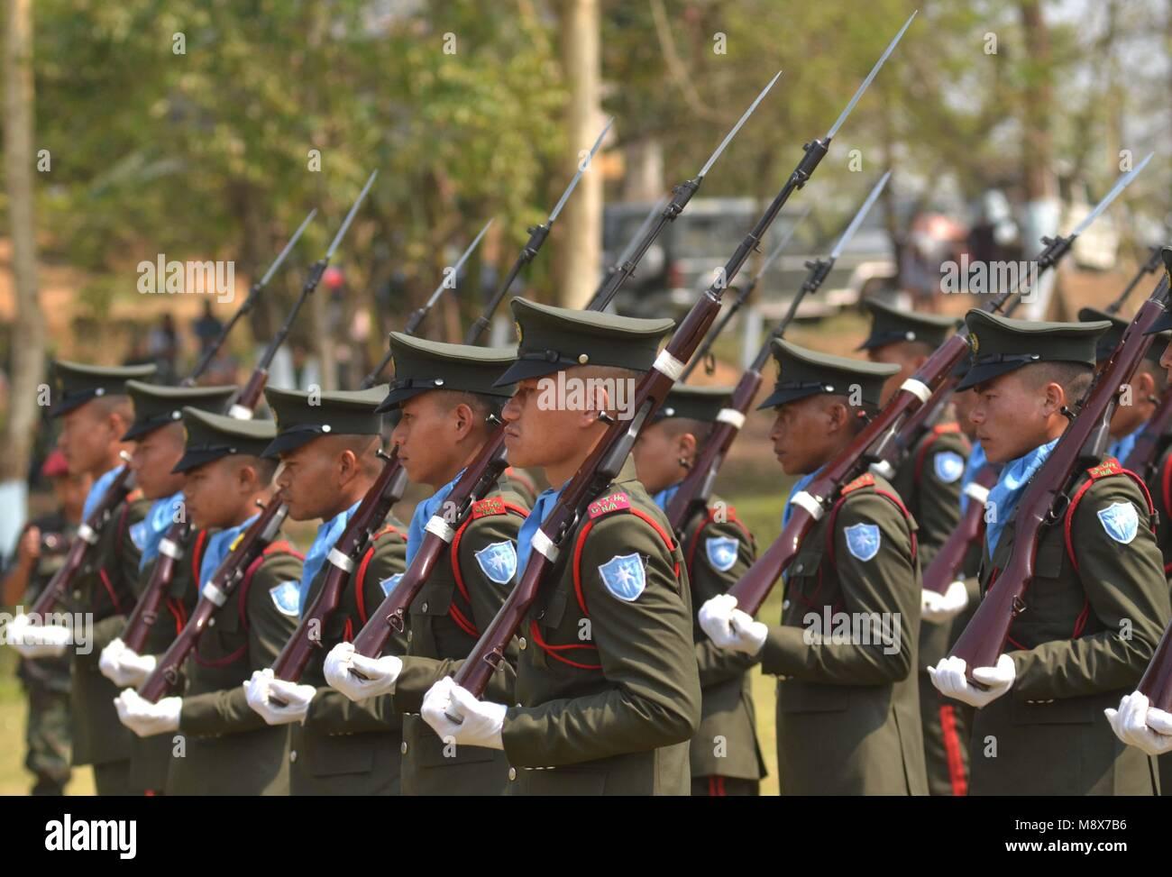 Dimapur, India Mar 21, 2018: Cadres of National Socialist Council of