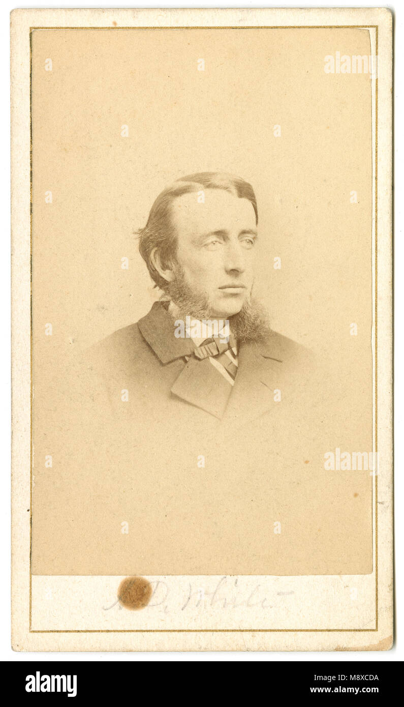 Antique C1860 Carte De Visite Andrew Dickson White 1832 1918 Was An American Historian And Educator Who The Cofounder Of