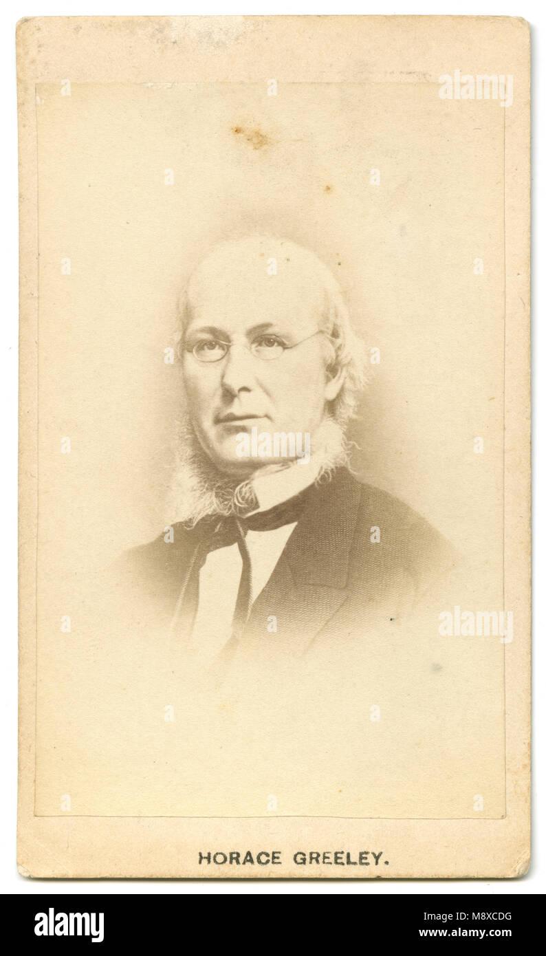 Antique C1860 Carte De Visite Horace Greeley Horace Greeley Stock