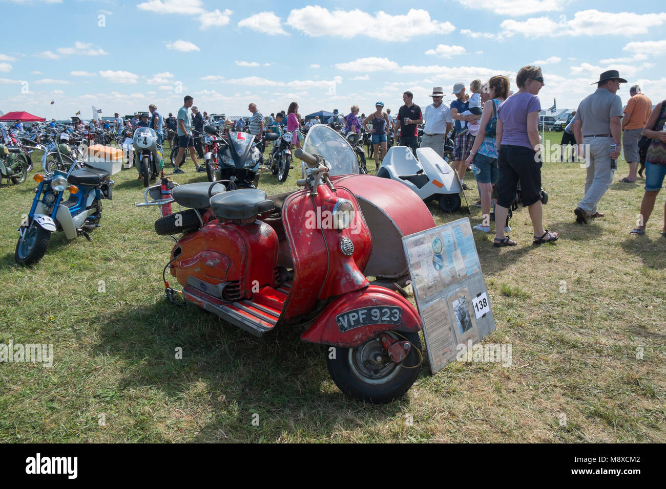 A 1950s red Lambretta 125 LD MK2 at the Gloucestershire Vintage Country Show in Cirencester 2016 Stock Photo