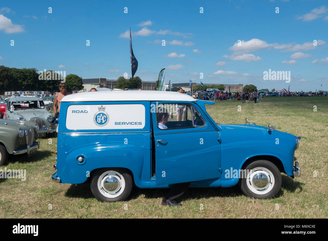 7a4074e8b89f9f Blue and white RAC Road Services 1950s Austin van at the Austin A30 and A35  Owners