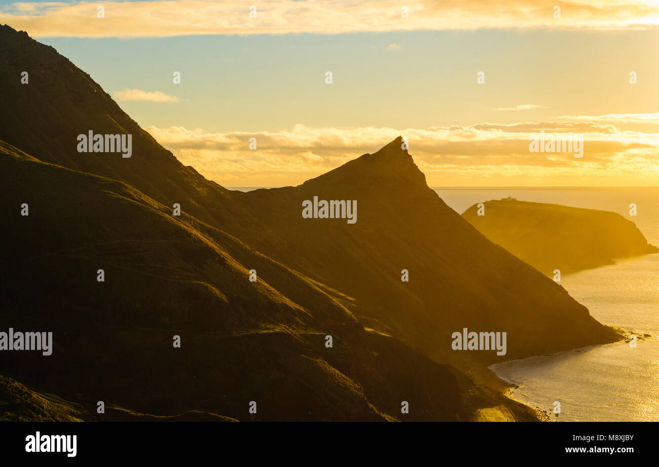 Early morning light on Porto Santo in the Madeira Islands, Portugal - Stock Image