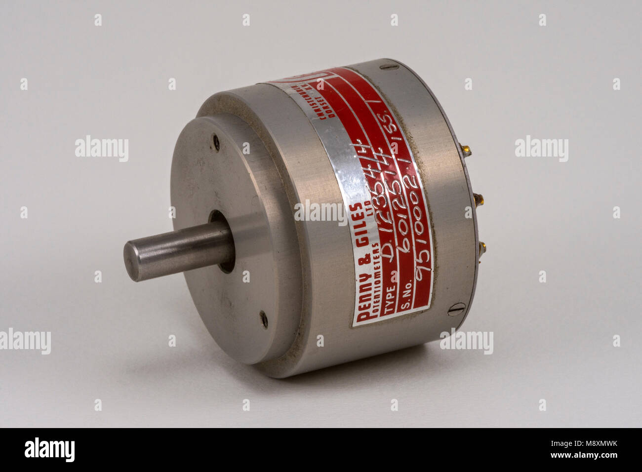 A Penny and Giles ultra low torque industrial precision potentiometer. - Stock Image