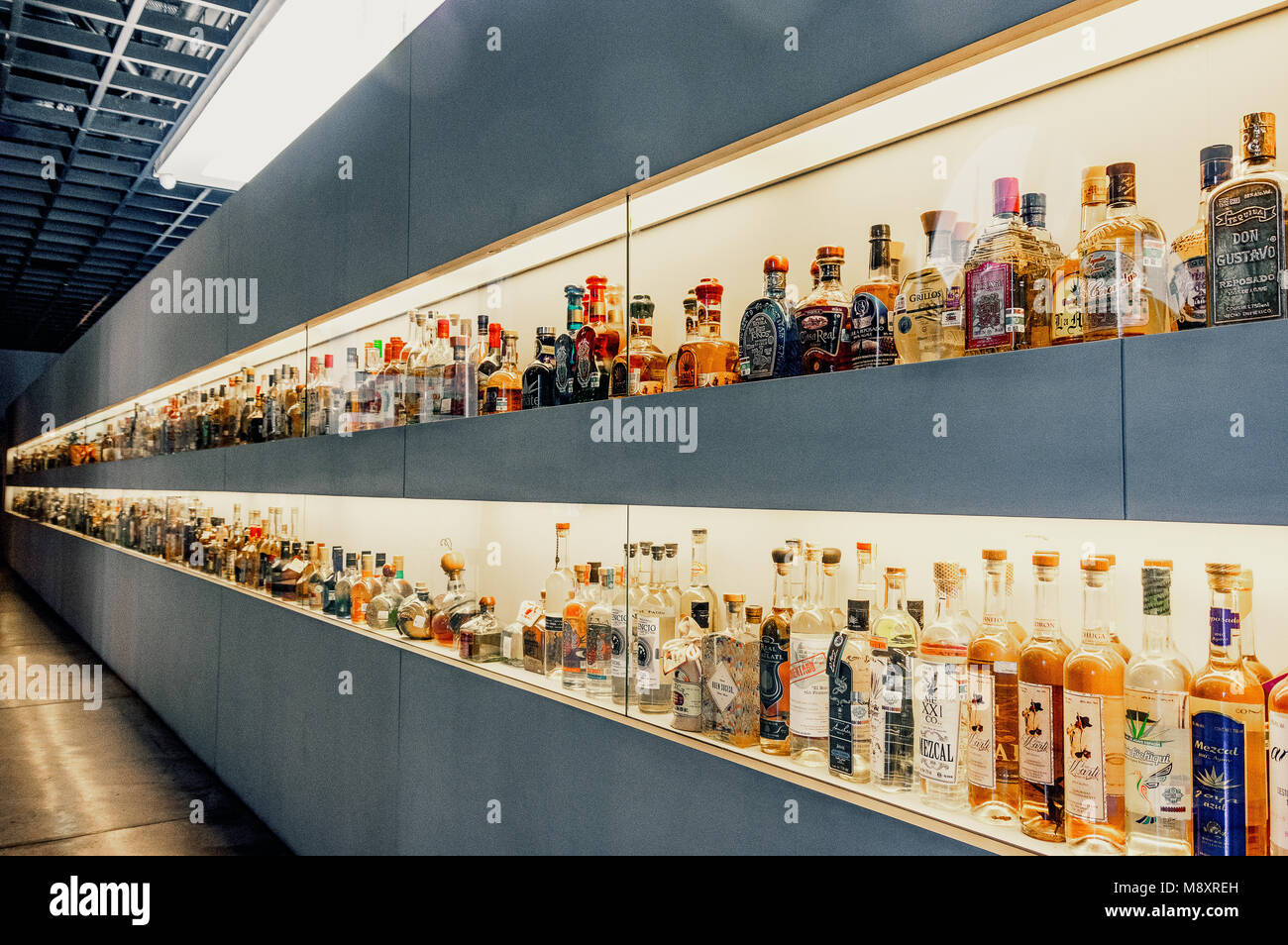 The museum of Tequila and Mezcal in Mexico City / El Museo del Tequila y el Mezcal en la ciudad de mexico Stock Photo