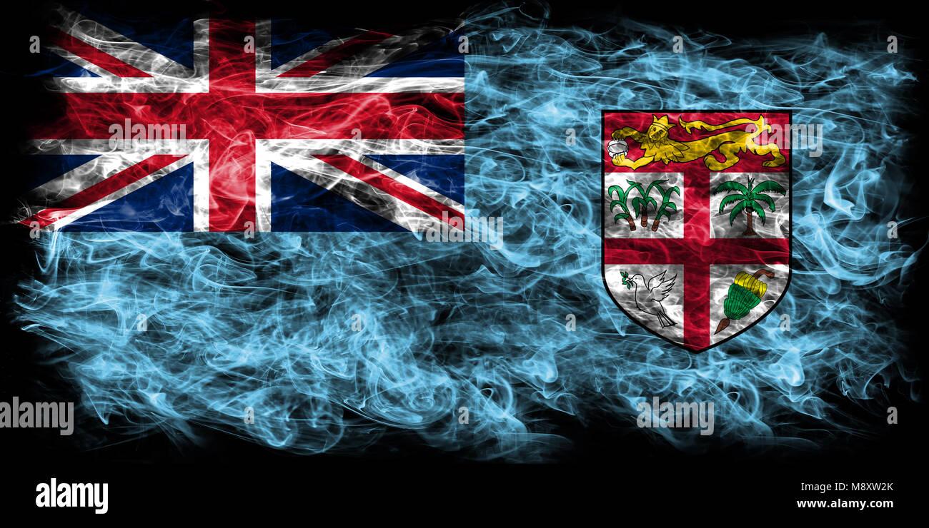 Fiji Smoke Flag Stock Photo 177611355 Alamy