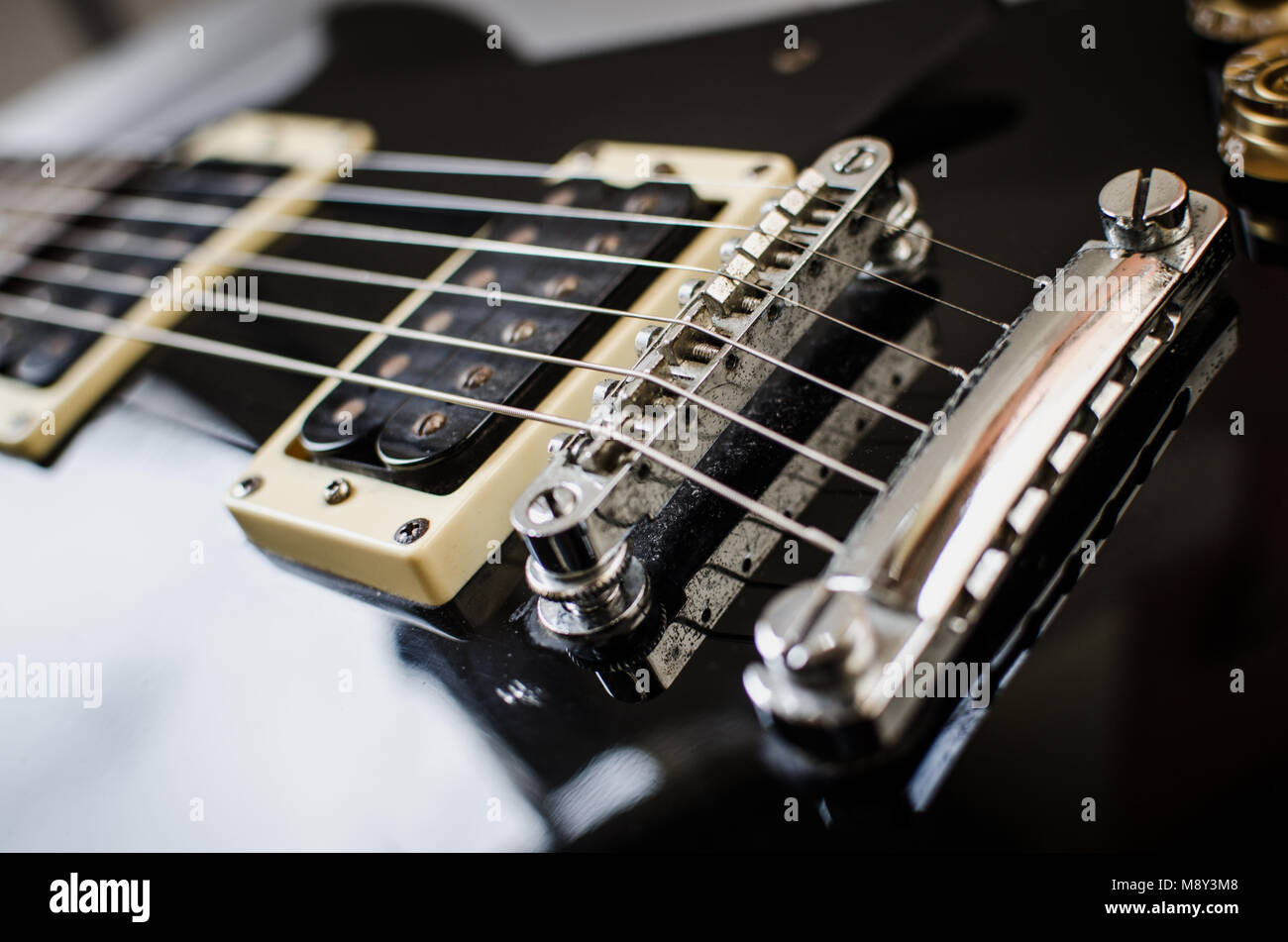 Electric Guitar Parts Stock Photos Of A Bridge And Pickups Image