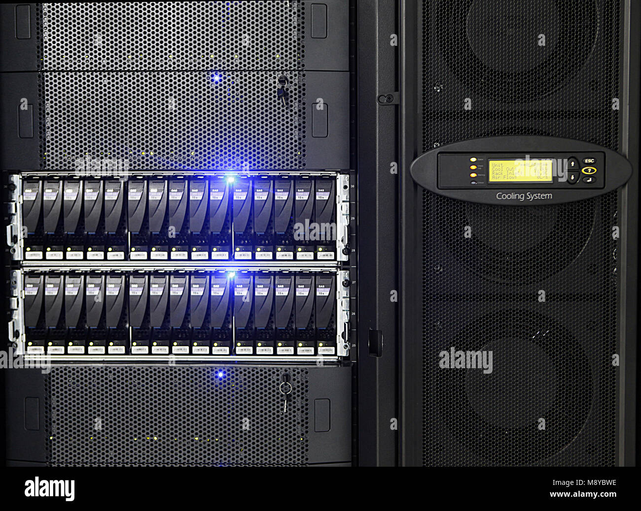 Server Network servers in a data center  Clarion storage on