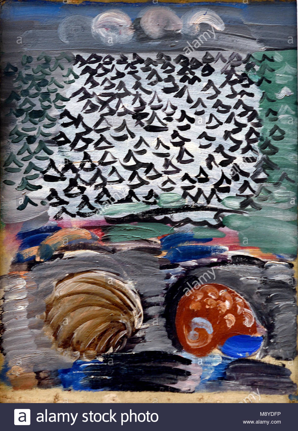 Coquillages au bord de la mer - Seashells at the seaside 1925 Raoul Dufy Painter France French - Stock Image
