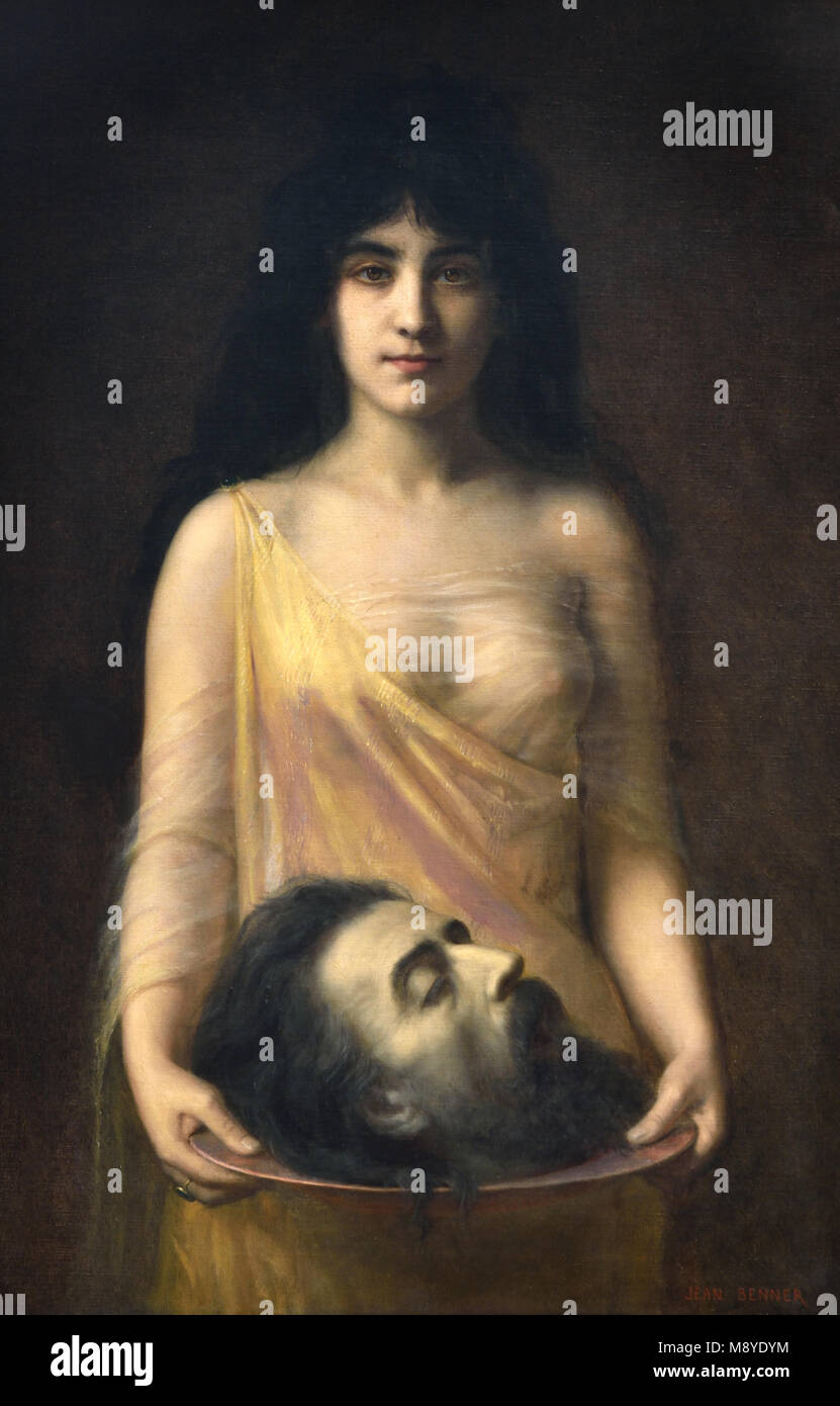 Salome ( Salome with the Head of John the Baptist ) 1899 Jean Benner 1836-1906, France, French, - Stock Image