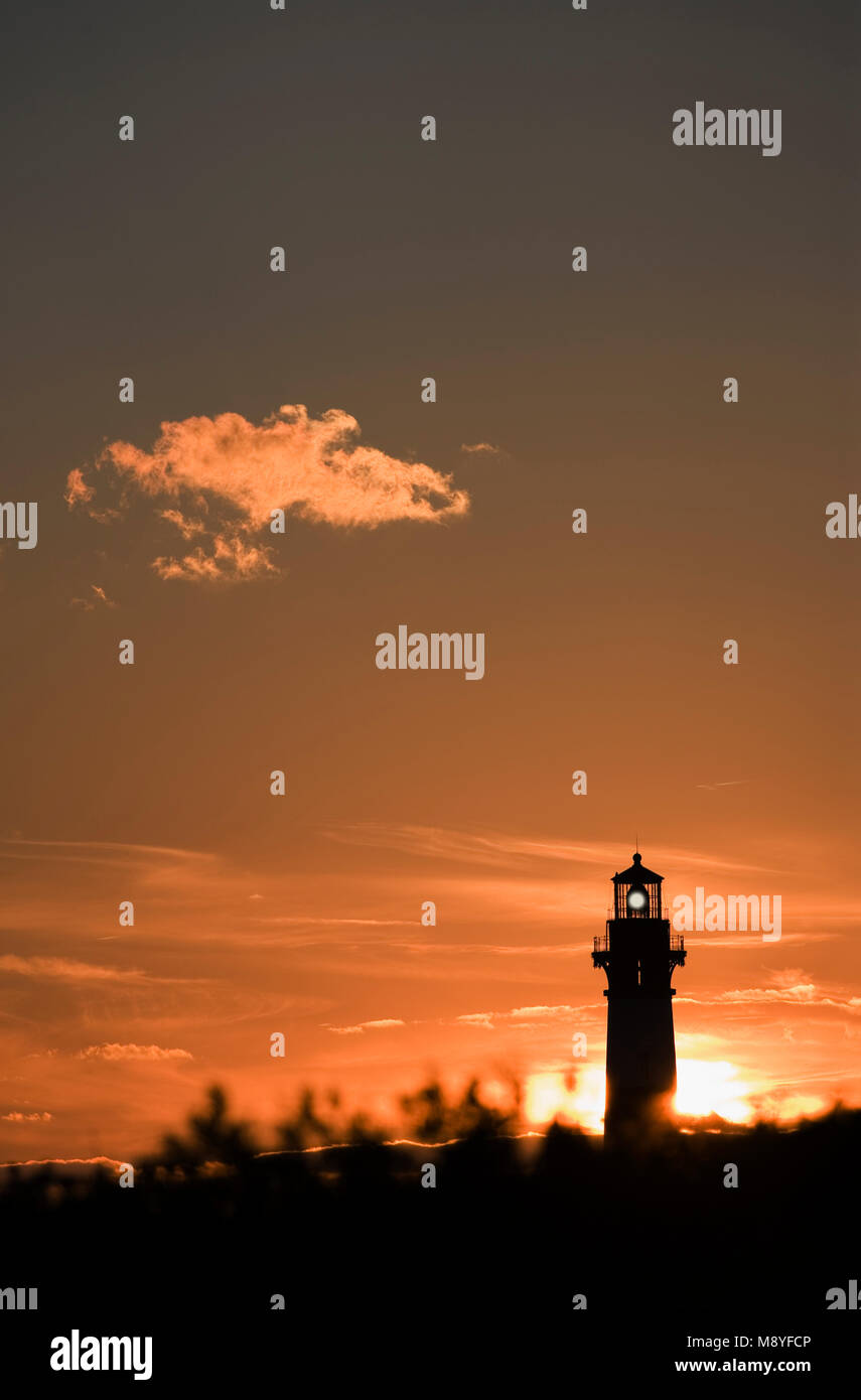 Bodie island lighthouse, Cape Hatteras national seashore outer Banks North Carolina USA - Stock Image