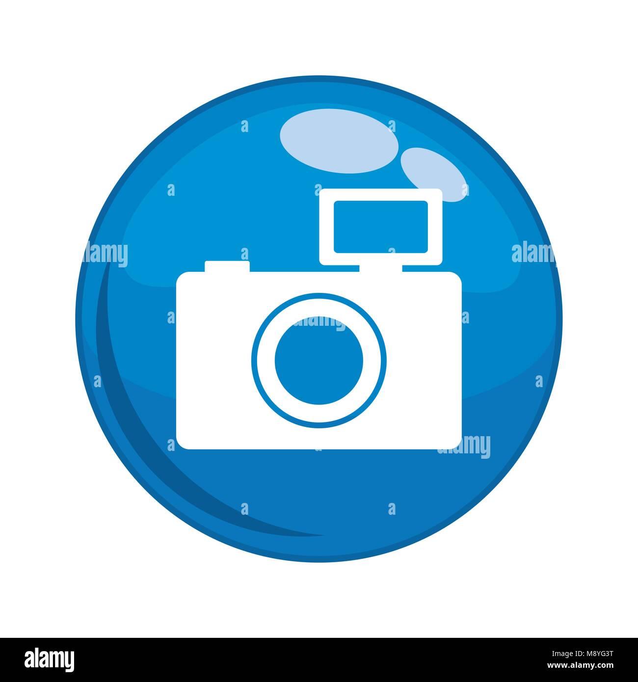 photographic camera button icon vector illustration design - Stock Vector