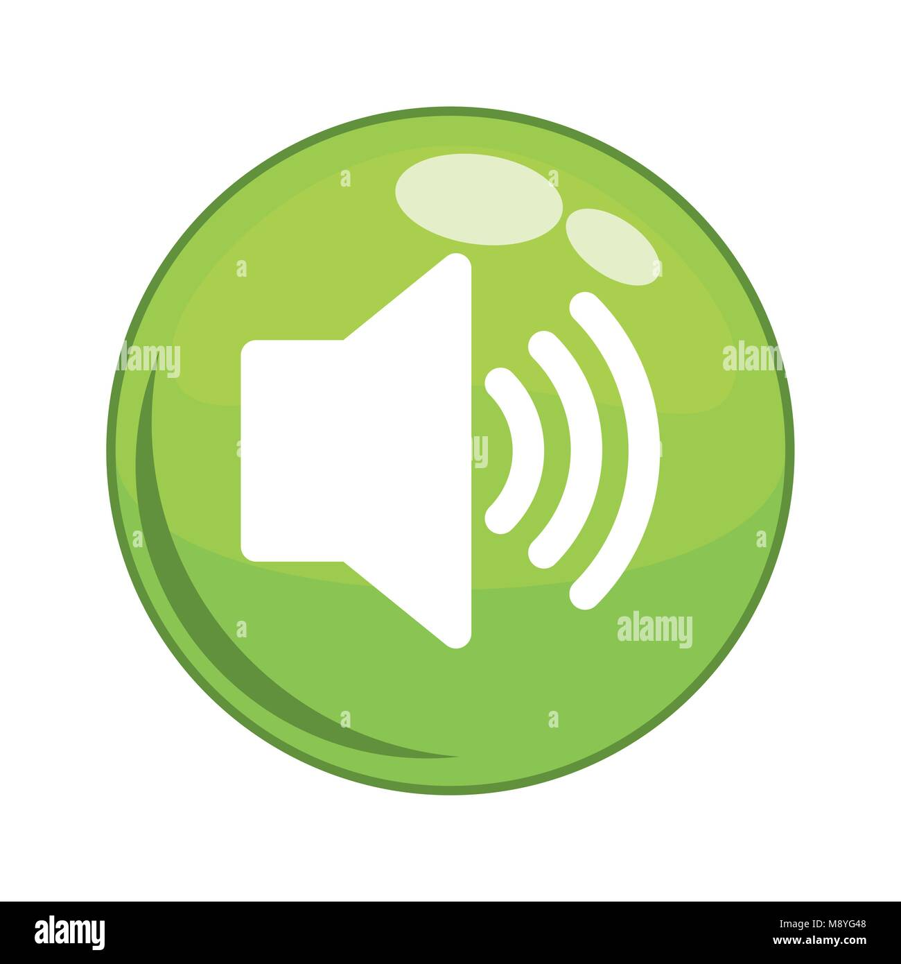 speaker sound button icon vector illustration design Stock