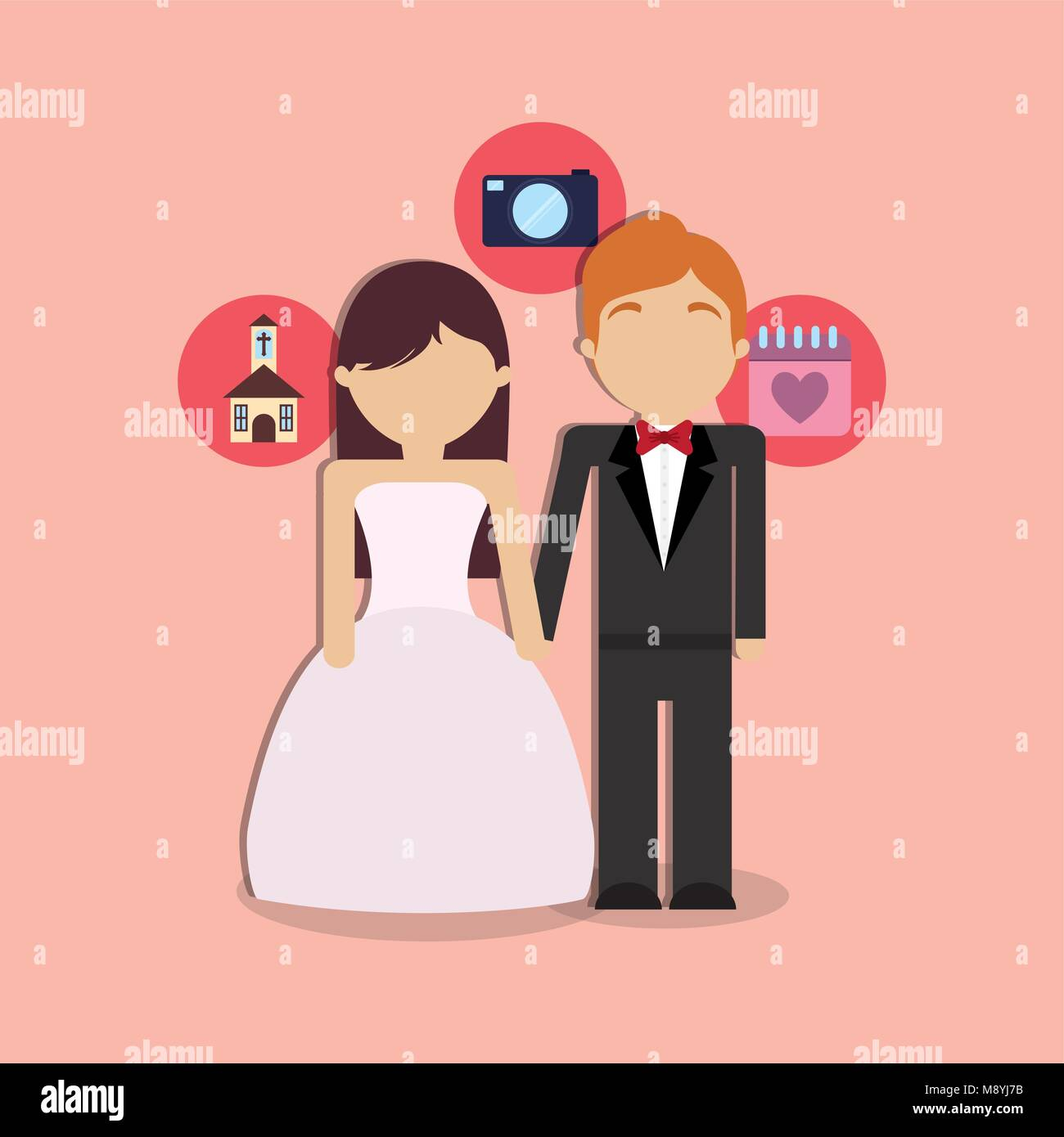 Wedding Icons Married Couple Stock Photos & Wedding Icons Married ...