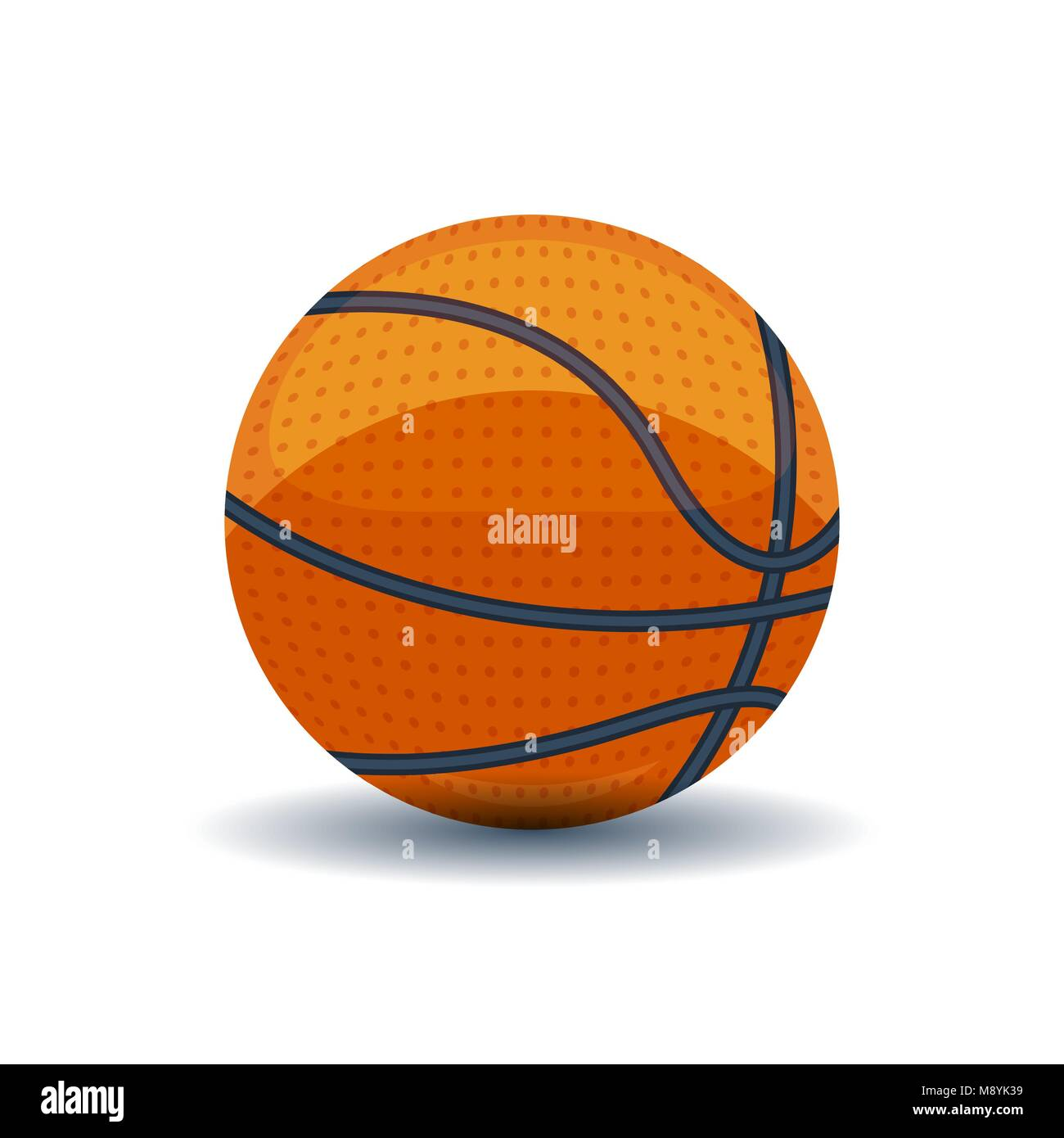 Orange basket ball on white - Stock Vector