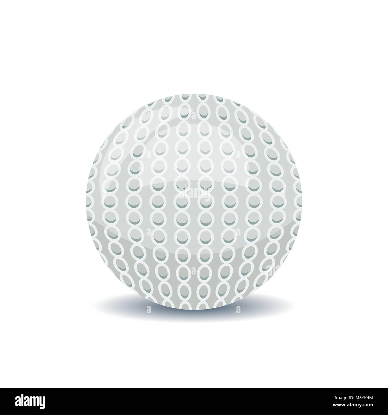 White textured ball for golf - Stock Vector