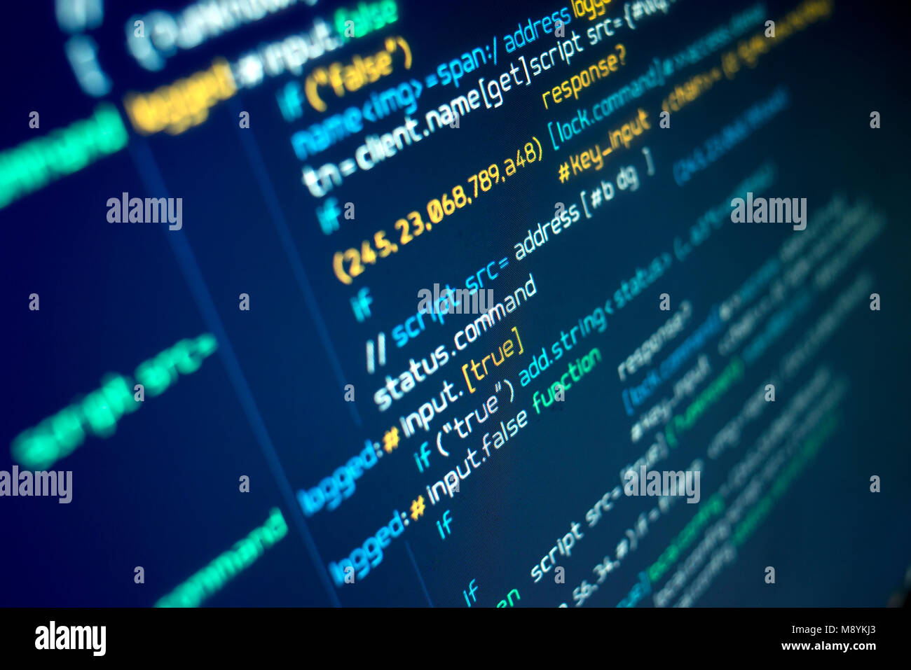 Modern programming source code on a computer screen. Background Stock Photo  - Alamy