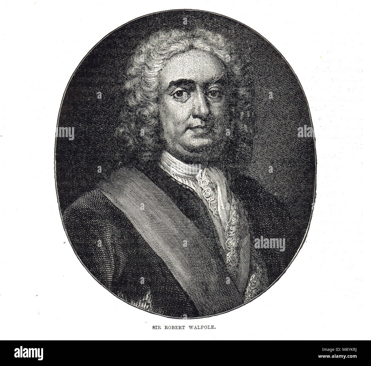 Robert Walpole, 1st Earl of Orford, considered the first Prime Minister of Great Britain - Stock Image