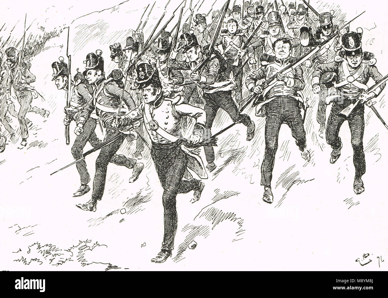 General Dilkes brigade at The Battle of Barrosa, 5 March 1811 - Stock Image